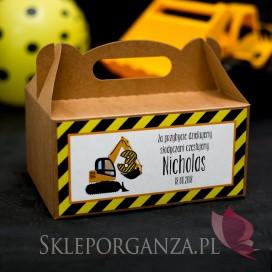 Kolekcja Koparka urodzinowa Pudełko na ciasto eko KOLEKCJA KOPARKA - PERSONALIZACJA