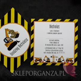 Kolekcja Koparka -Zaproszenie KOLEKCJA KOPARKA - PERSONALIZACJA