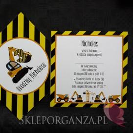 Kolekcja Koparka urodzinowa Zaproszenie KOLEKCJA KOPARKA - PERSONALIZACJA