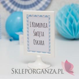 Znak Komunia – personalizacja CHEVRON NIEBIESKI