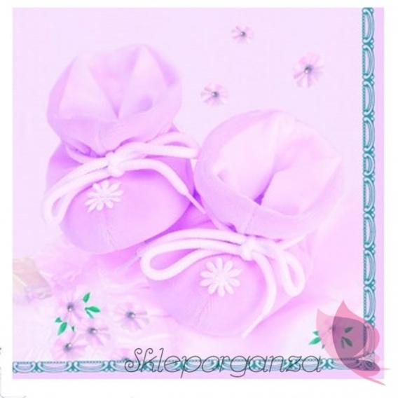 Serwetki Serwetki buciki różowe, 20szt