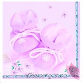 Serwetki buciki różowe, 20szt