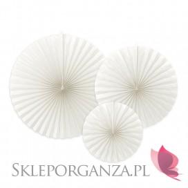 Rozety inne Rozety dekoracyjne białe, 3szt.