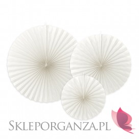 Rozety dekoracyjne białe gładkie, 3szt.