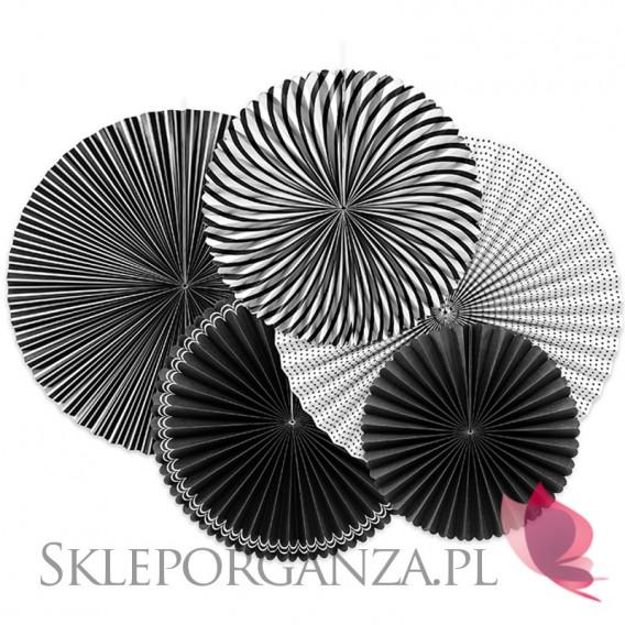 Rozety inne Rozety dekoracyjne czarno-białe, 5szt.