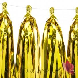Girlandy frędzle Girlanda frędzle złota, 12szt.