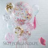 Balony z konfetti Balony z konfetti rose gold, 5szt.