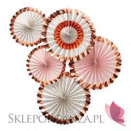 Kolekcja Floral na Baby Shower - Rozetki metaliczne rose gold KOLEKCJA FLORAL