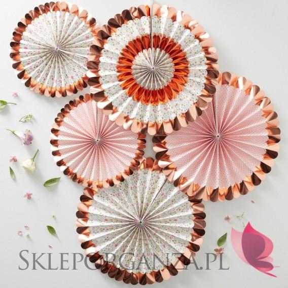 Kolekcja Floral - Rozetki metaliczne rose gold KOLEKCJA FLORAL