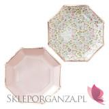 Kolekcja Floral na Baby Shower Talerzyki KOLEKCJA FLORAL