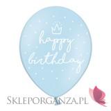 Balony z nadrukiem Balon happy birthday niebieski