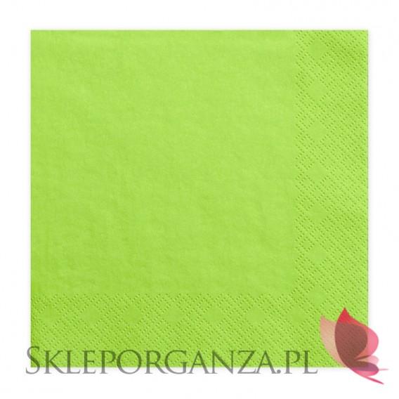 Zielony Serwetki zielone 3 warst. 33x33, 20 sztuk