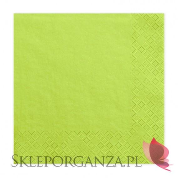 Zielony Serwetki zielone jabłko 3 warst. 33x33, 20 sztuk