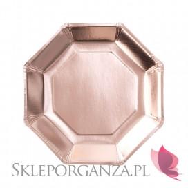 Rose Gold Talerzyki metaliczne rose gold, 8szt.