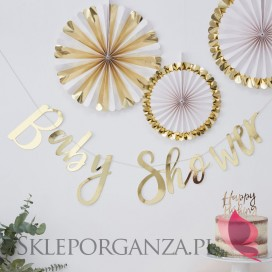 Baner Baby Shower złoty