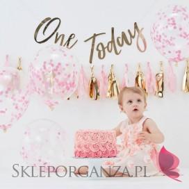 Zestaw dekoracji na roczek – różowy