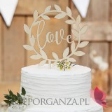 Drewniany topper love