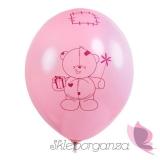 Balon Miś - mam już roczek, różowy