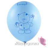 Balon Miś - mam już roczek, niebieski
