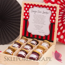 Kolekcja Biedronka -Personalizowany zestaw miodów w szkatułce - duży KOLEKCJA BIEDRONKA - PERSONALIZACJA