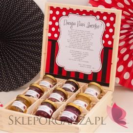 Dzień nauczyciela - Koniec Roku Zestaw miodów w szkatułce - duży - KOLEKCJA BIEDRONKA - personalizacja Dzień Nauczyciela