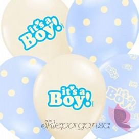 Balony It's a boy, niebieskie, 6szt