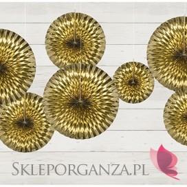 Rozety dekoracyjne złote, 3szt.
