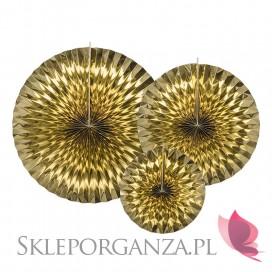 Rozety metaliczne Rozety dekoracyjne złote, 3szt.