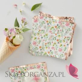 Kolekcja Floral na Baby Shower Serwetki KOLEKCJA FLORAL