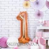 Balony cyfry urodzinowe Balon foliowy cyfra rose gold