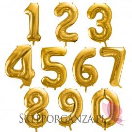 Balon foliowy cyfra złota