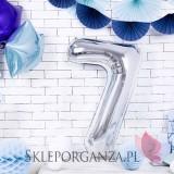 Balony cyfry Balon foliowy cyfra srebrna
