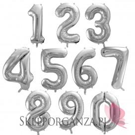 Balon foliowy cyfra srebrna
