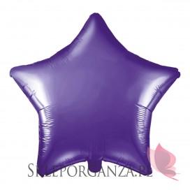 Balony Foliowe Balon foliowy GWIAZDKA fioletowa 48cm