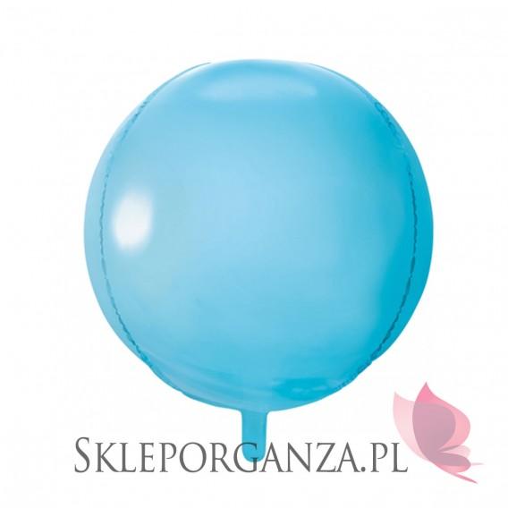 Balon foliowy KULA błękitna 40cm