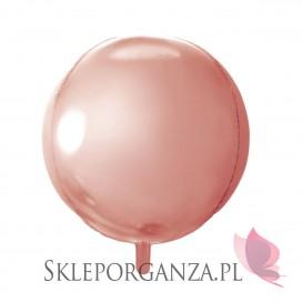 Balon foliowy KULA różowe złoto 40cm