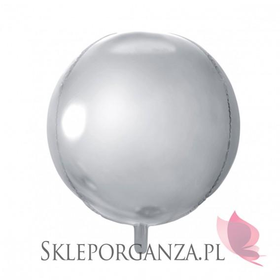 Balony foliowe Balon foliowy KULA srebrna 40cm
