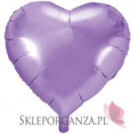 Balon foliowy SERCE jasnoliliowe 61cm
