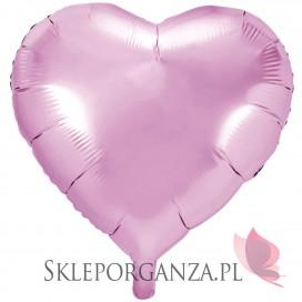 Balon foliowy SERCE jasnoróżowe 61cm
