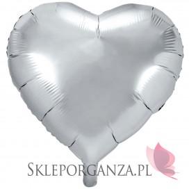Balon foliowy SERCE srebrne 61cm