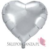 Balony foliowe na wesele Balon foliowy SERCE srebrne 61cm