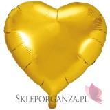 Balon foliowy SERCE złote 61cm