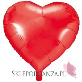 Balony foliowe Balon foliowy SERCE czerwone 61cm