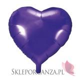 Balon foliowy SERCE fioletowe 45cm