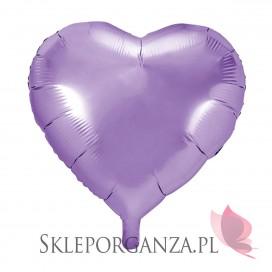 Balon foliowy SERCE jasnoliliowe 45cm