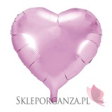 Balon foliowy SERCE jasnoróżowe 45cm