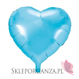 Balon foliowy SERCE błękitne 45cm