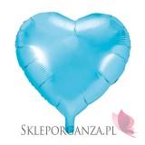 Balony foliowe Balon foliowy SERCE błękitne 45cm