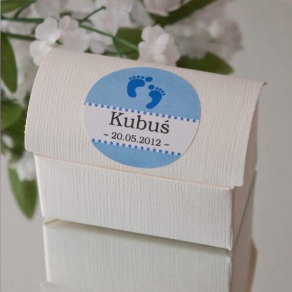 Pudełko kuferek biały JEDWAB- personalizacja
