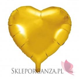 Balon foliowy SERCE złote 45cm